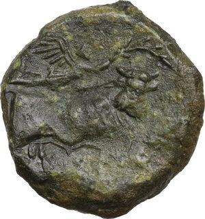 reverse: Central and Southern Campania, Neapolis. AE Obol, circa 275-250 BC