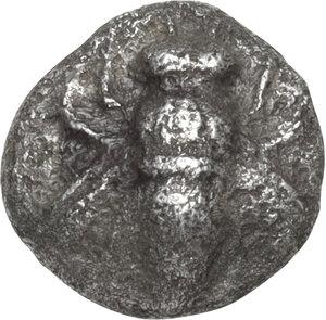 obverse: Ionia, Ephesos. AR 1/24 Stater, 550-500 BC