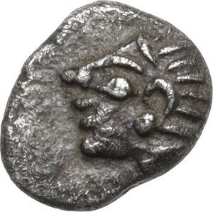 obverse: Ionia, Kolophon. AR Tetartemorion, 525-490 BC