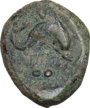 reverse: Eastern Italy, Larinum. AE Biunx, c. 210-175 BC