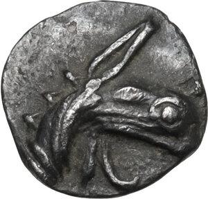 obverse: Ionia, Teos. AR Tetartemorion, 520-478 BC