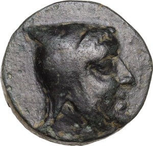 obverse: Kings of Cappadocia.  Ariarathes III (c. 230-220 BC).. AE 18 mm. Tyana mint