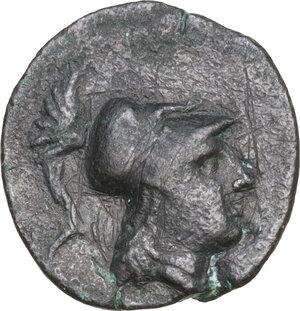 obverse: Northern Apulia, Arpi. AE15. 215-212 BC