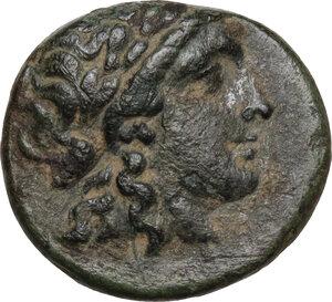 obverse: Syria, Seleucid Kings.  Antiochos II Theos (286-246 BC).. AE 17 mm