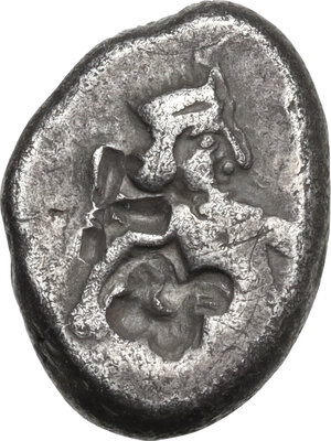 obverse: Persia, Achaemenid Empire..  temp. Artaxerxes II to Artaxerxes III (c. 375-340 BC). . AR Siglos. Sardes mint