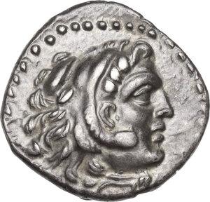 obverse: Eastern Europe, Uncertain Tribe. . AR Drachm, imitating Alexander III of Macedon, Chios mint