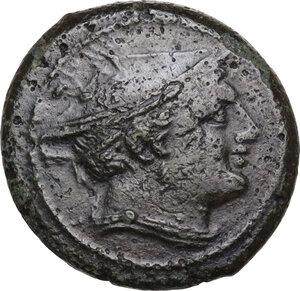 obverse: Semilibral series.. AE Semuncia, c. 217-215 BC