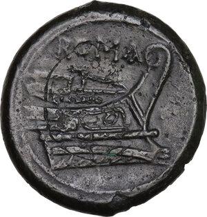 reverse: Semilibral series.. AE Semuncia, c. 217-215 BC