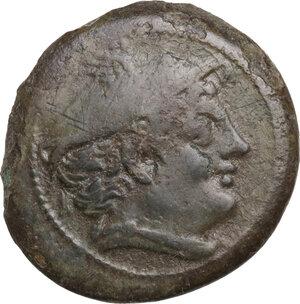 obverse: Semilibral series.. AE Semuncia, 217-215 BC