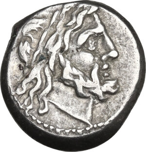 obverse: Anonymous. Victoriatus, from 211 BC