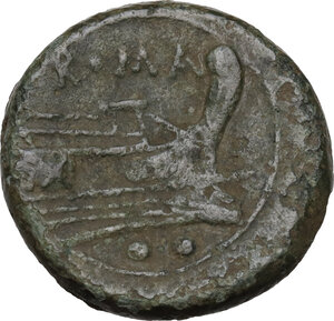 reverse: Sextantal series.. AE Sextans, after 211 BC