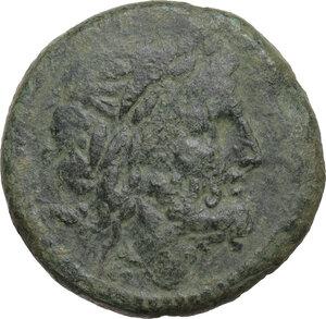 obverse: Anonymous. AE Semis, 211-208 BC. Luceria mint