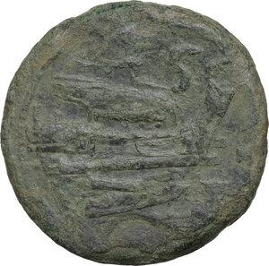 reverse: Anonymous. AE Semis, 211-208 BC. Luceria mint
