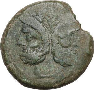 obverse: L. Furius Purpurio. AE As, 169-158 BC