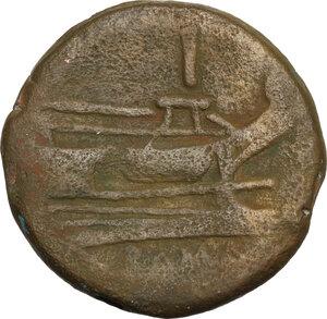 reverse: Anchor series.. AE As, 169-158 BC