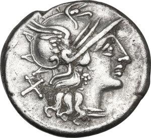 obverse: Spurius Afranius.. AR Denarius, 150 BC