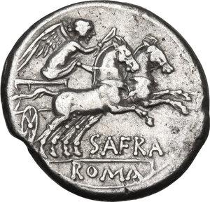 reverse: Spurius Afranius.. AR Denarius, 150 BC