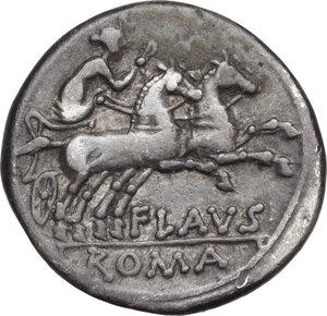 reverse: Decimius Flavus. . AR Denarius, 150 BC
