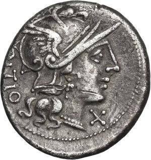 obverse: L. Sempronius Pitio. . AR Denarius, 148 BC