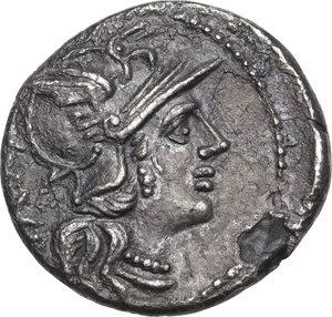 obverse: C. Titinius. AR Denarius, 141 BC