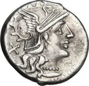 obverse: A. Spurius.. AR Denarius, 139 BC