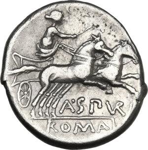 reverse: A. Spurius.. AR Denarius, 139 BC