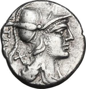 obverse: Tiberius Veturius.. AR Denarius, 137 BC