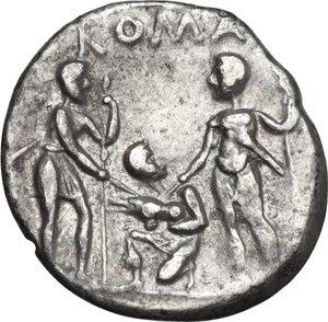 reverse: Tiberius Veturius.. AR Denarius, 137 BC