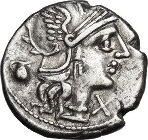 obverse: Sextus Pompeius.. AR Denarius, 137 BC