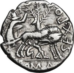 reverse: Sextus Pompeius.. AR Denarius, 137 BC
