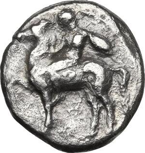 obverse: Southern Apulia, Tarentum. AR Nomos, circa 380-340 BC