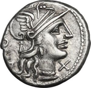 obverse: C. Minucius Augurinus. AR Denarius, 135 BC