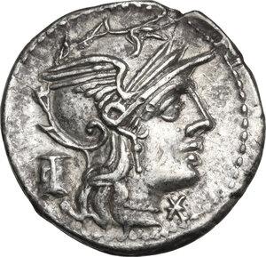obverse: M. Marcius Mn. f.. AR Denarius, 134 BC