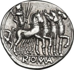 reverse: M. Vargunteius.. AR Denarius, 130 BC