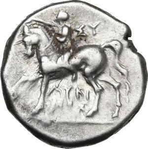 obverse: Southern Apulia, Tarentum. AR Nomos, reduced standard, circa 272-240 BC
