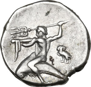 reverse: Southern Apulia, Tarentum. AR Nomos, reduced standard, circa 272-240 BC