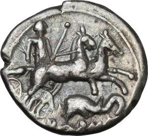 reverse: L. Caecilius Metellus.. AR Denarius, 128 BC