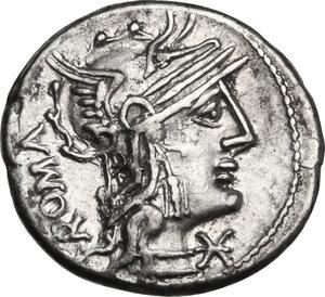 obverse: M. Caecilius Metellus.. AR Denarius, 127 BC