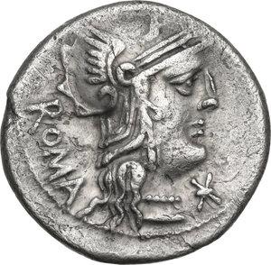 obverse: M. Caecilius Q. f. Q. n. Metellus. AR Denarius, 127 BC