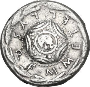 reverse: M. Caecilius Q. f. Q. n. Metellus. AR Denarius, 127 BC