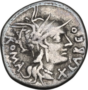 obverse: Q. Fabius Labeo.. AR Denarius, circa 124 BC