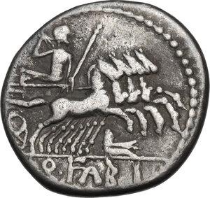 reverse: Q. Fabius Labeo.. AR Denarius, circa 124 BC