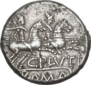 reverse: C. Plutius.. AR Denarius, 121 BC