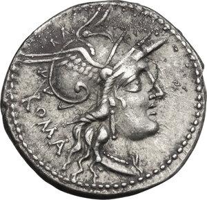 obverse: M. Tullius.. AR Denarius, 120 BC