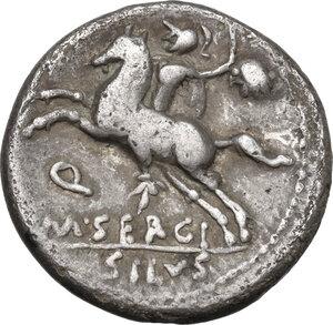 reverse: M. Sergius Silus.. AR Denarius, 116-115 BC