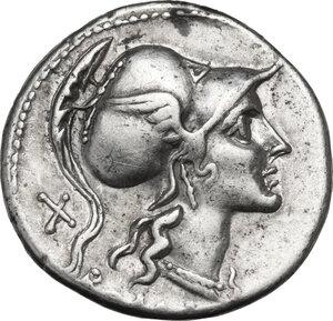 obverse: Anonymous. AR Denarius, 115-114 BC