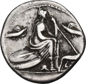 reverse: Anonymous. AR Denarius, 115-114 BC