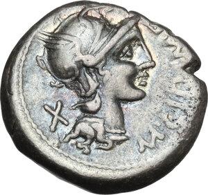 obverse: M. Cipius M. f.. AR Denarius, 115-114 BC