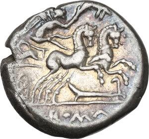 reverse: M. Cipius M. f.. AR Denarius, 115-114 BC