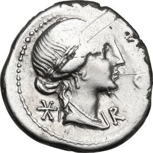 obverse: Mn. Aemilius Lepidus. AR Denarius, 114 or 113 BC